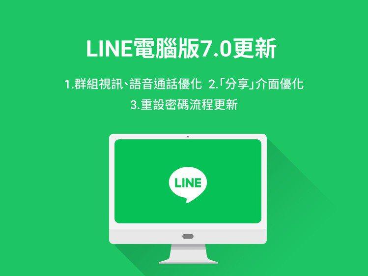 LINE電腦版7.0.0已於近日更新,經常使用視訊通話功能的使用者可以趕快更新享...