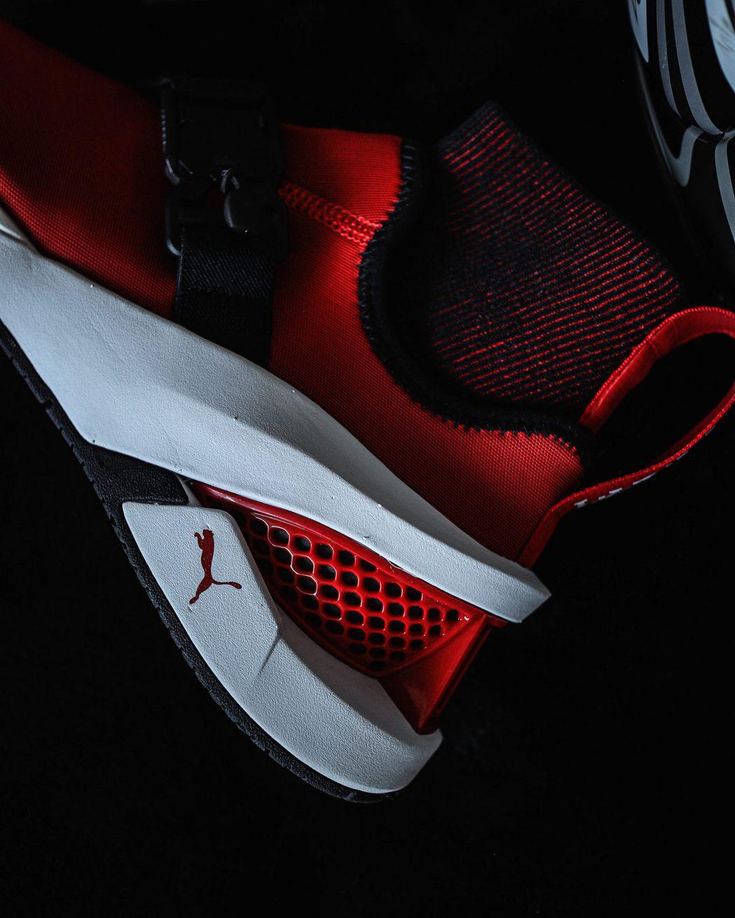 Puma與Ferrari推出聯名超炫鞋款ION F。 圖/Puma提供