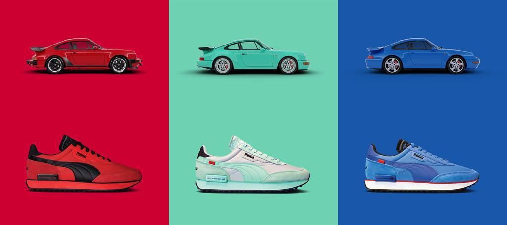 PUMA過去也與Porsche的經典跑車911 Turbo合作推出鞋款。 圖/P...