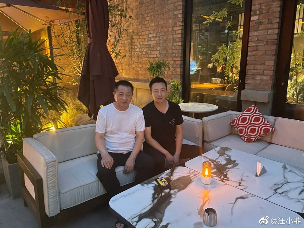 汪小菲曬照祝爸爸跟自己父親節快樂。圖/擷自微博