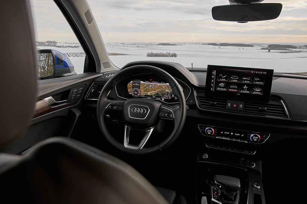 美背休旅Audi Q5 Sportback亦標配完善主被動駕駛輔助系統。 圖/A...
