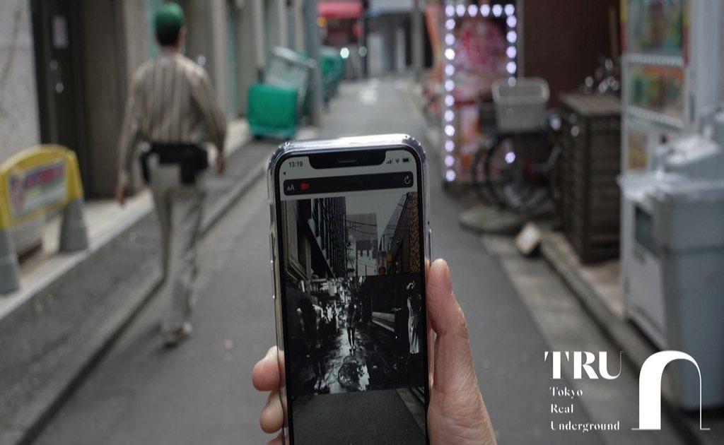 透過AR技術可追隨 William Klein 的拍攝足跡。 圖/naoto i...