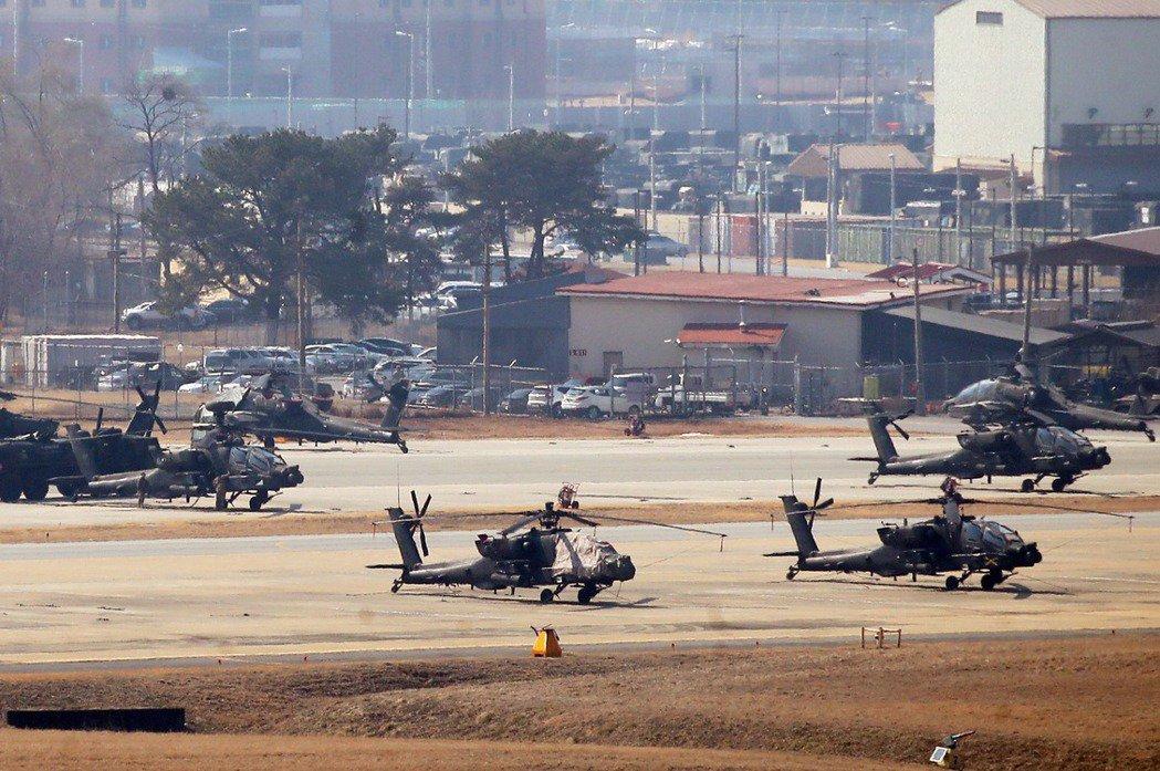 中共戰術彈道飛彈不僅嚴重威脅台灣,其射程亦足以涵蓋東亞多數美國盟邦、乃至於美軍在西太平洋的主要海空基地。圖為駐韓美軍基地漢弗萊營區。 圖/歐新社