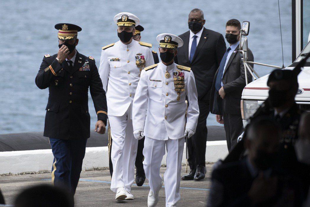 前印太司令戴維森上將認為實際在西太平洋執行嚇阻中共任務的軍方領導階層的焦點,應放在能於24至72小時內採取有力、可恃的干涉行動。 圖/美聯社