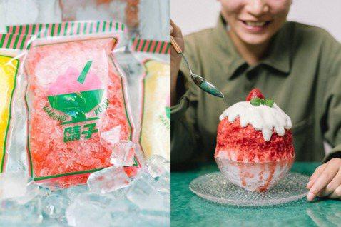 濃郁色澤的天然草莓冰,不添加一滴水熬煮製作。 圖/晴子冰室提供