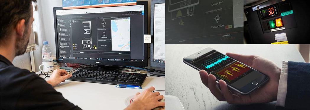 UnaBiz的冷鏈監控感應器隨時監控冷櫃操作與耗能量並生成圖表,方便客戶快速檢視...