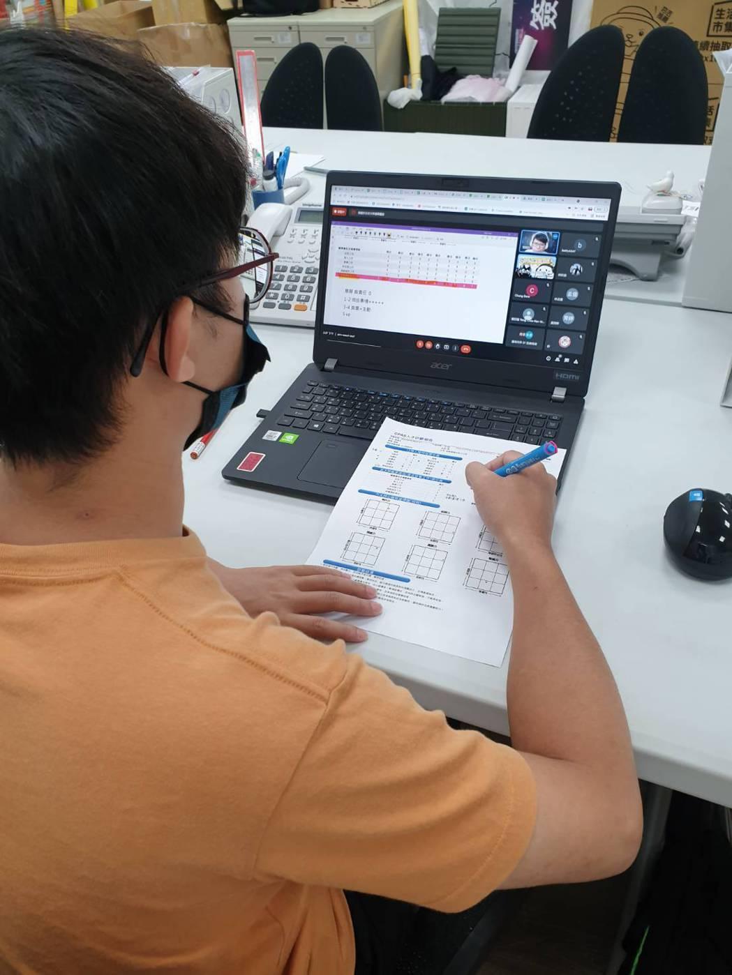 上課青年-CPAS解析。 雲嘉南YS/提供。