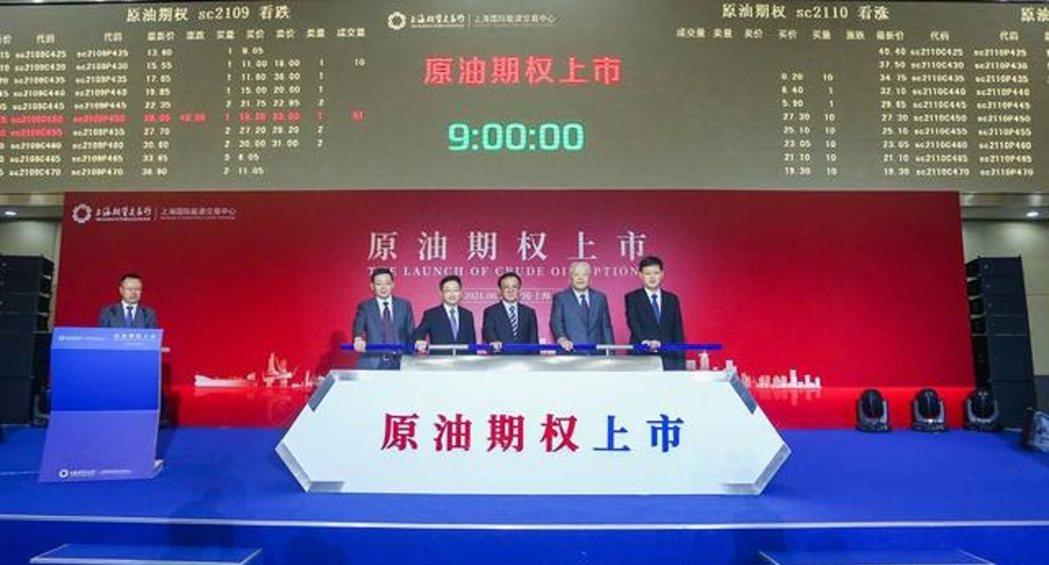 大陸原油期權21日在上海期貨交易所子公司上海國際能源交易中心(簡稱「上期能源」)...