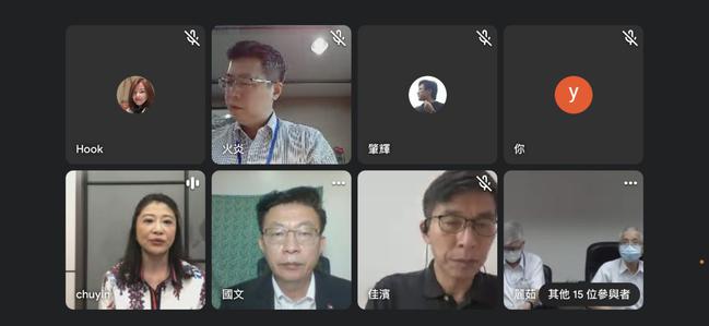 民進黨立法委員郭國文(下方左二)今天上午舉行保單借款紓困記者會。記者陳怡慈/截圖