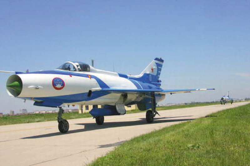 6月17日晚間,國防部發布中共軍機飛入我方防空識別區的相關資訊,當天共軍出動的機種當中包括4架殲七戰鬥機(如圖)。中新社