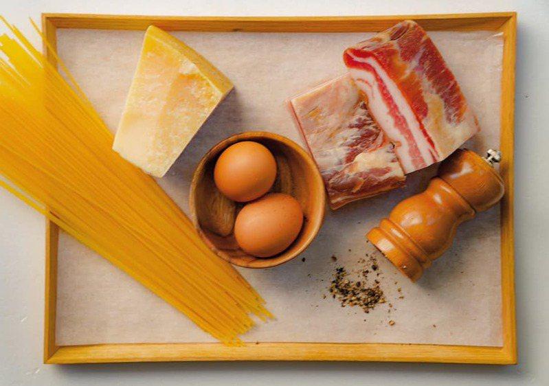 培根蛋麵(Spaghetti alla Carbonara)食材簡單,除了義大利麵,就是雞蛋、培根、黑胡椒與乳酪。圖/摘自logy官方臉書。