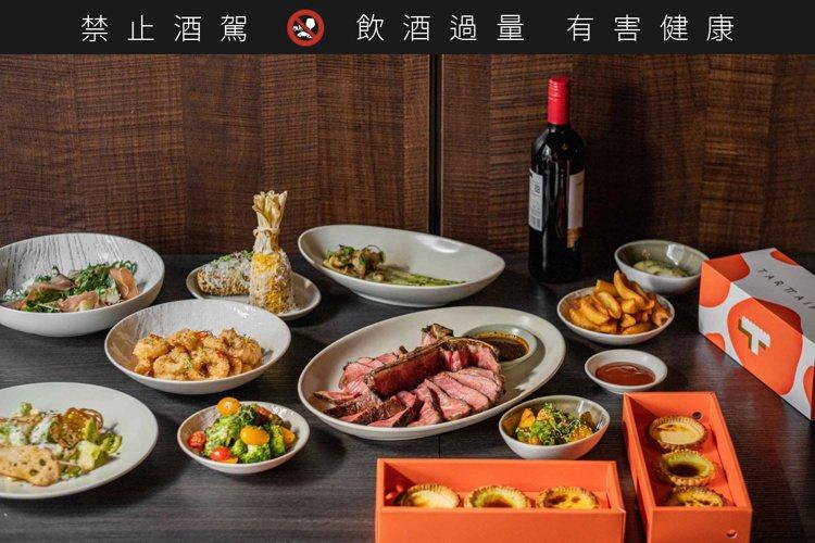 重度肉食四人套餐(紅屋牛排)。圖/WILDWOOD提供。 ※ 提醒您:禁止酒...
