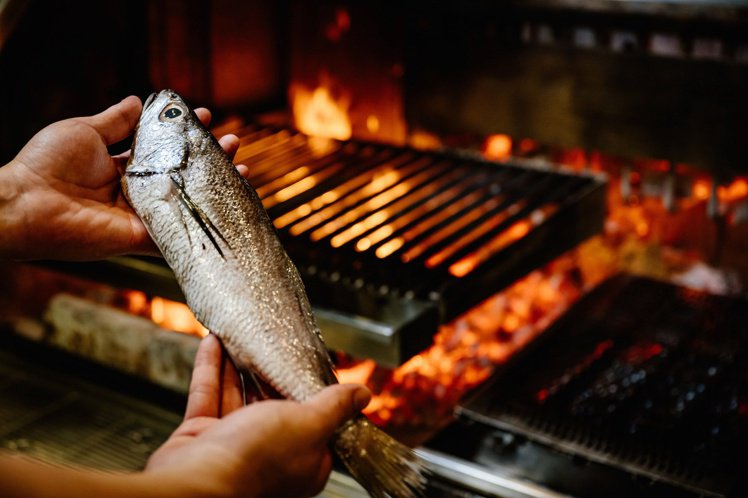 WILDWOOD原木燒烤每日海港直送現流鮮魚。圖/WILDWOOD提供。