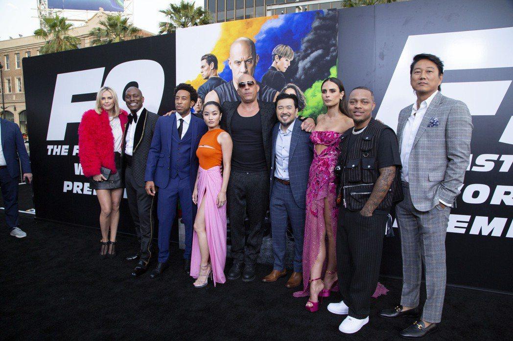 「玩命關頭9」在好萊塢中國戲院舉辦首映會。圖/UIP提供