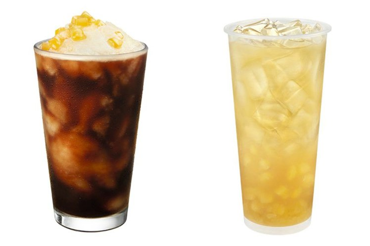 「金色鳳梨冷萃咖啡」、「蜜香鳳梨青茶」。圖/星巴克提供