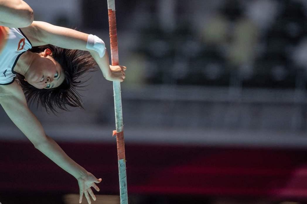 日本女子組撐竿跳選手Yuka Morota。 圖/法新社