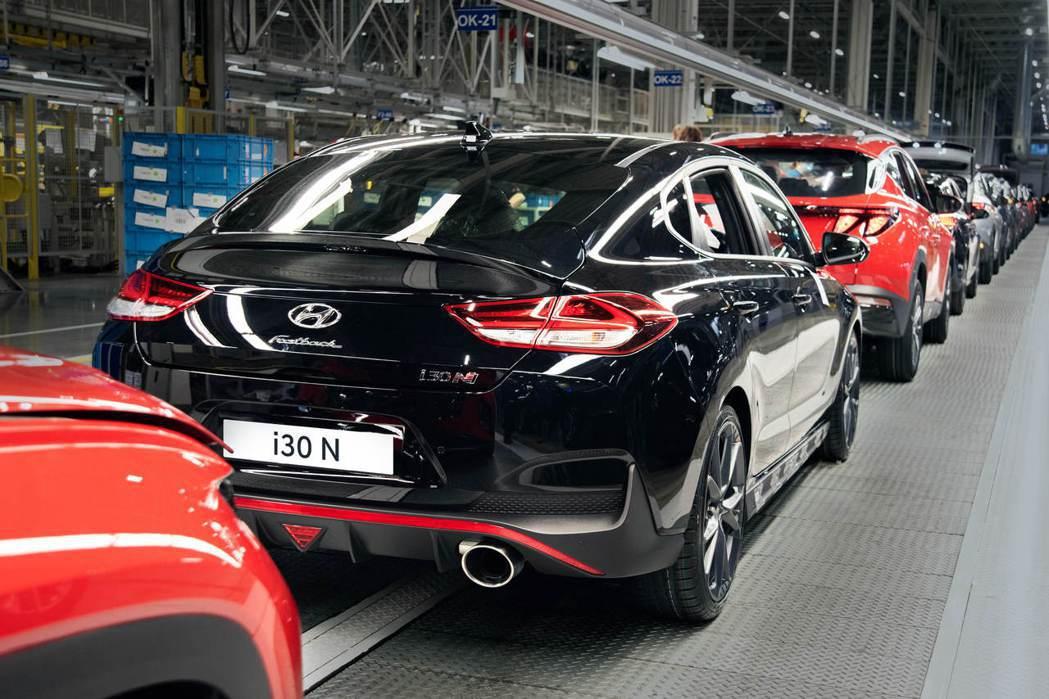 小改款Hyundai i30 Fastback N。 摘自Hyundai