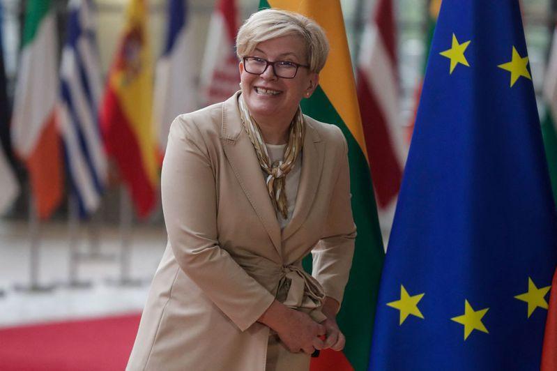 立陶宛總理席莫尼特(Ingrida Simonyte)。 法新社