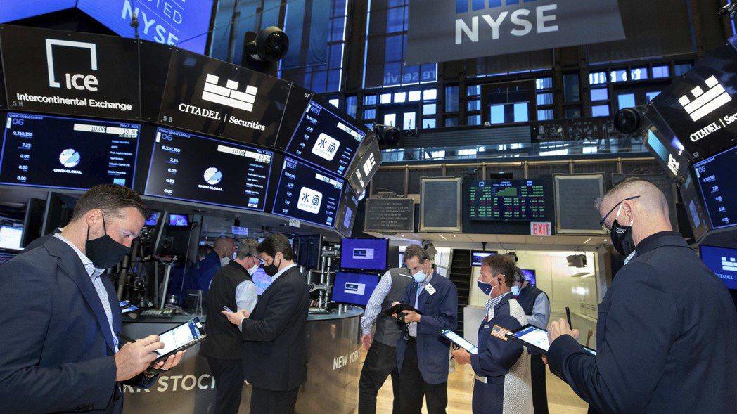 美股21日勁揚,能源、金融股等景氣敏感類股帶頭衝。(美聯社)