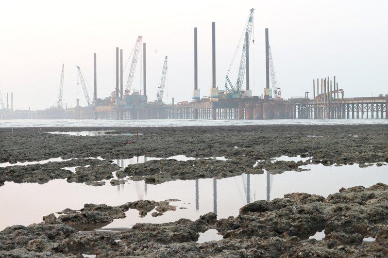 珍愛藻礁與重啟核四兩項議題8月公投若過關,將衝擊蔡政府能源政策。但專家認為,無論公投結果,台灣電力供應都不容樂觀。圖為大潭藻礁與後方棧橋。圖/聯合報系資料照片