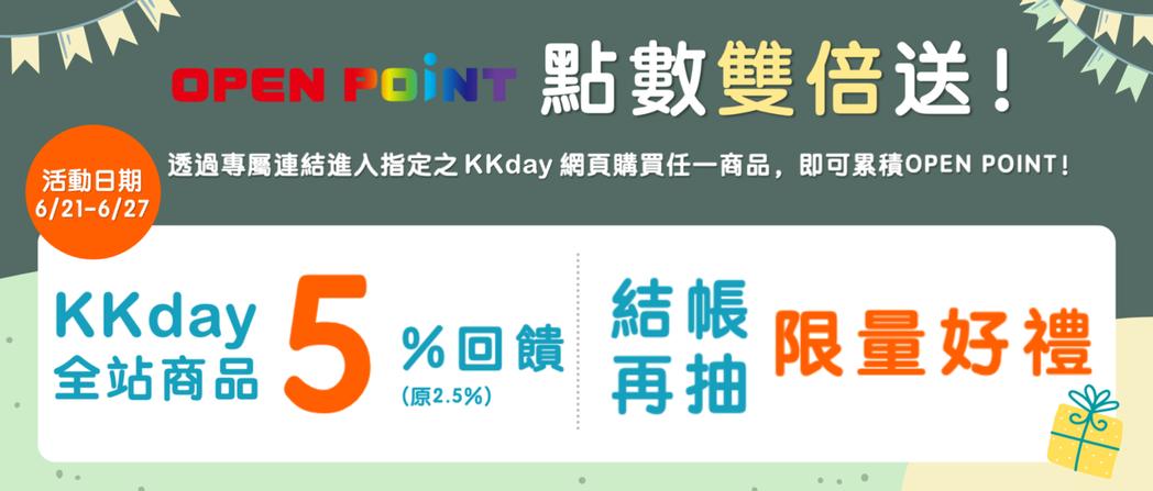 宅家獎勵!KKday攜手OPEN POINT推雙重點數回饋,線上消費即享累積OP...
