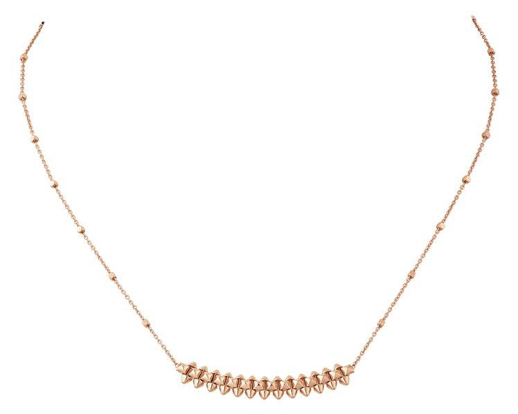 CLASH DE CARTIER玫瑰金項鍊小型款,73,000元。圖/卡地亞提供