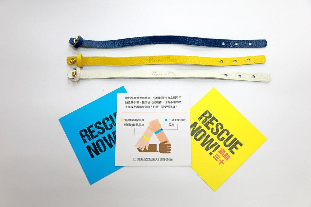 捐款3000元,將贈送「Rescue Now!守護難民兒童手環」 圖/台灣世界展...