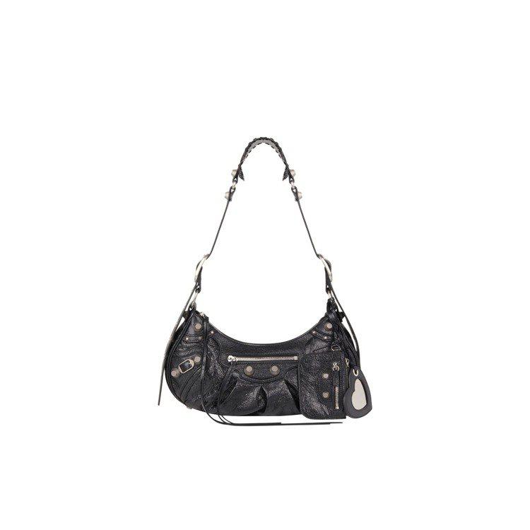 Le Cagole Small黑色小羊皮肩下包,59,900元。圖/BALENC...