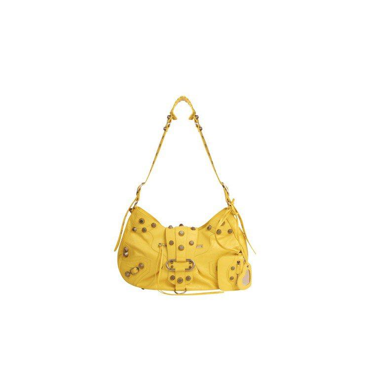 黃色Le Cagole包,價格未定。圖/BALENCIAGA提供