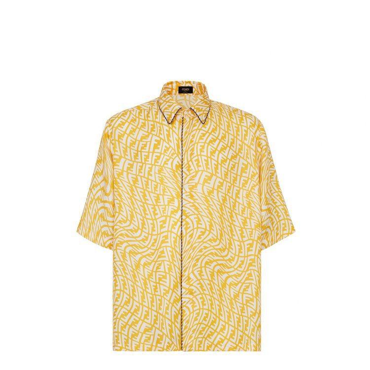 Summer Vertigo系列亮黃絲質襯衫,39,000元。圖/FENDI提供