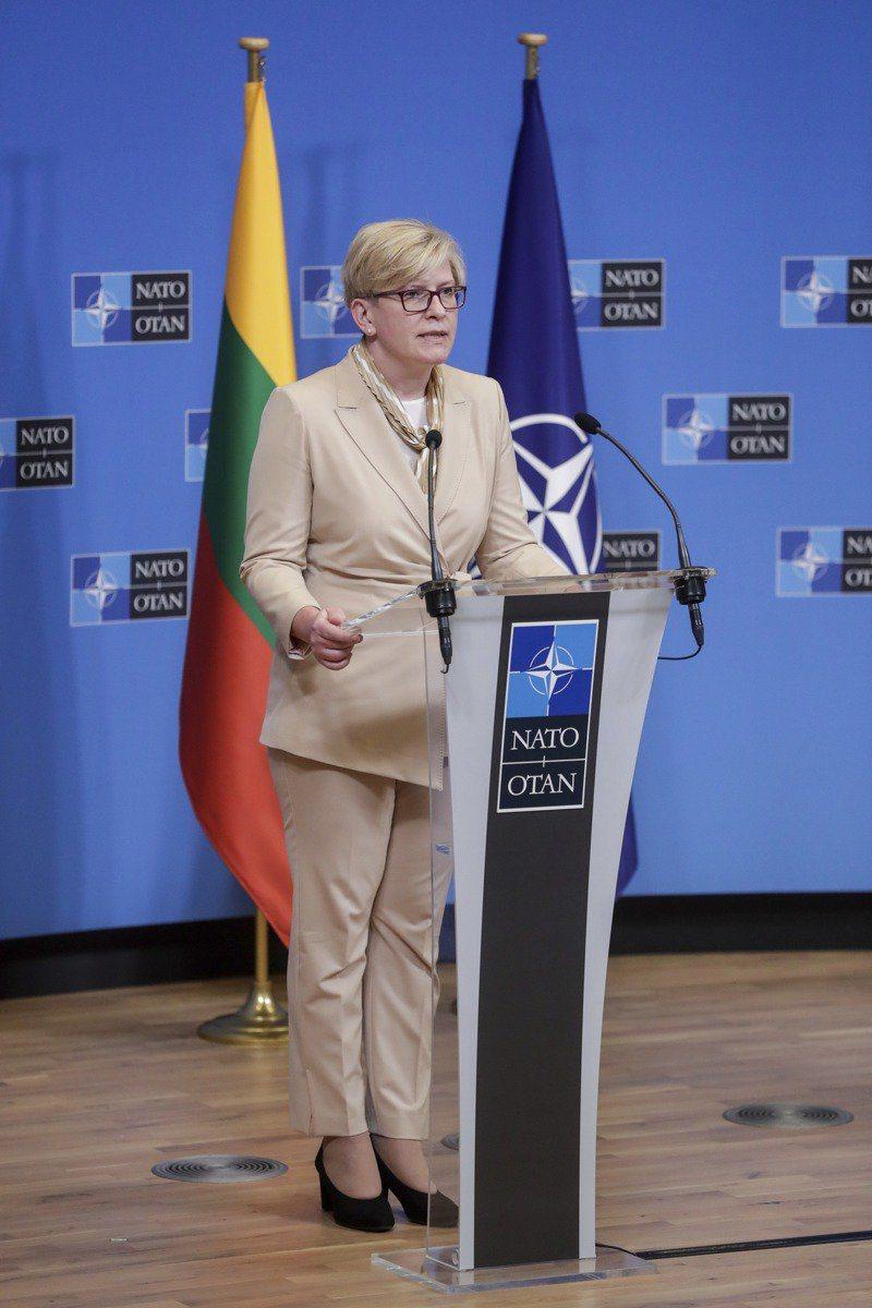 立陶宛總理希莫尼特。美聯社