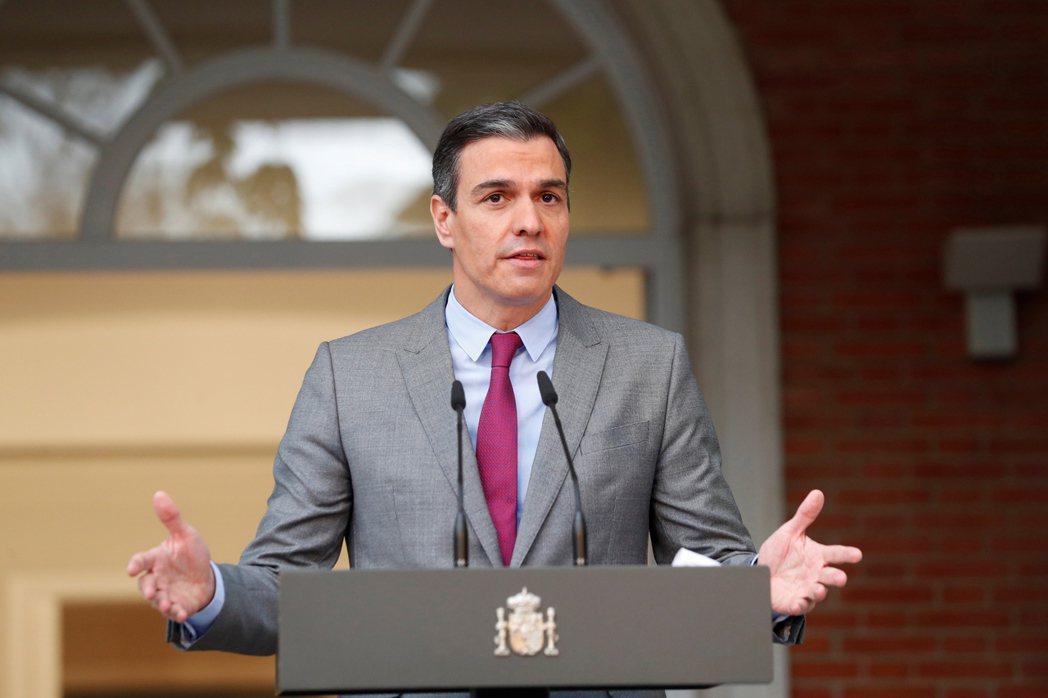 西班牙總理桑傑士22日發表電視演說,宣布特赦9名加泰隆尼亞獨派領袖。(歐新社)