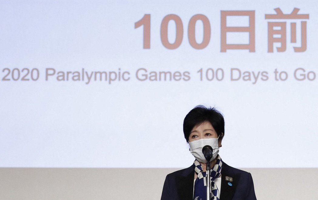 日本東京都知事小池百合子22日因過勞住院,預定休養一周,圖為她上月出席「東奧倒數...