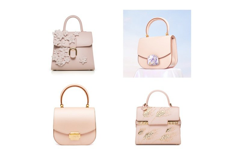 SAUVEREIGN、DELVAUX都在春夏季推出夢幻粉色的包款。圖/SAUVE...