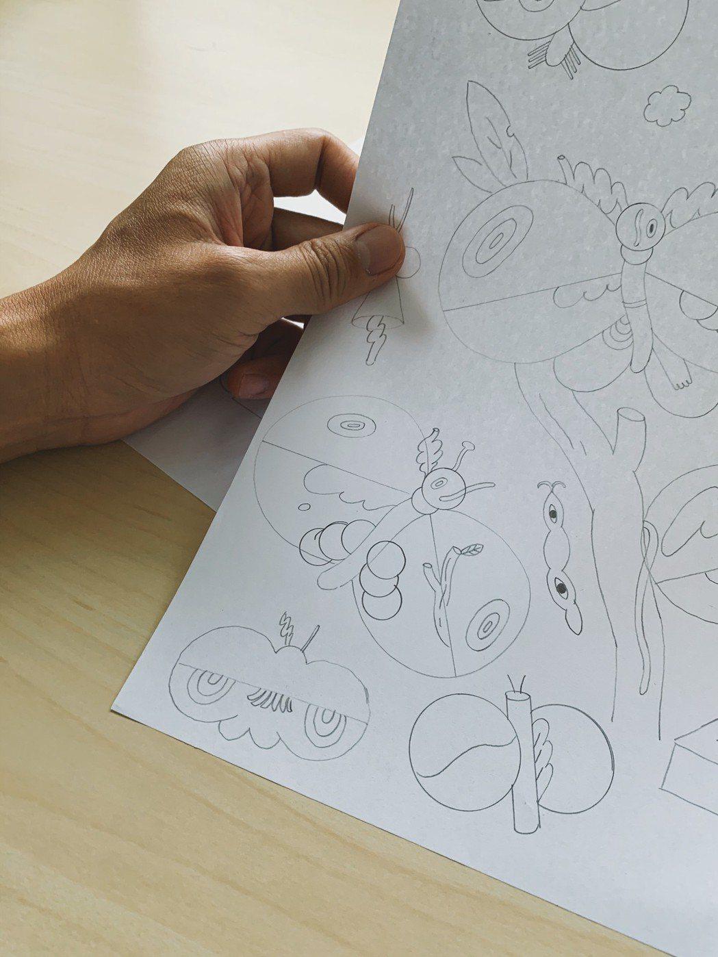 川貝母習慣早上構思草圖,下午則是用來確認構圖、描線稿或上色。 圖/川貝母提供