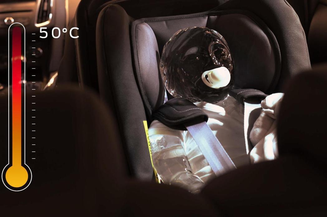 車外溫度設定在華氏95度(攝氏35度),車內溫度在短短19分鐘內升至華氏122度...
