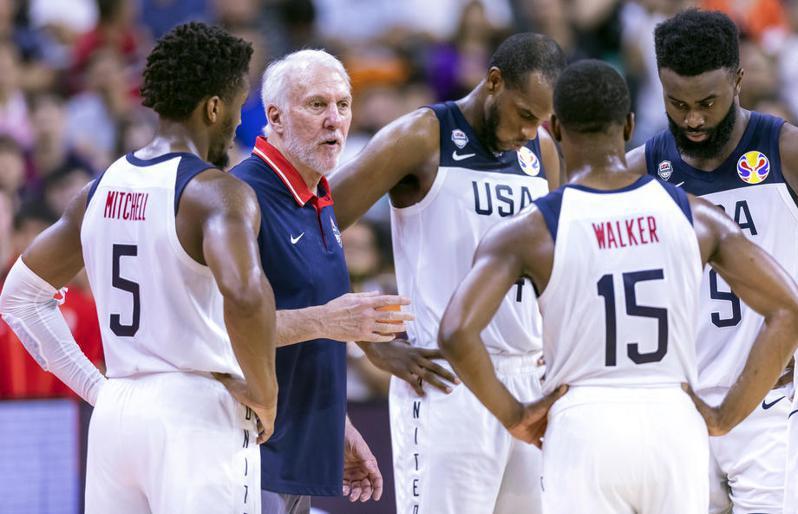 波波維奇(Gregg Popovich)領軍的美國隊,目前已有11位NBA球星表態願意參戰。 歐新社