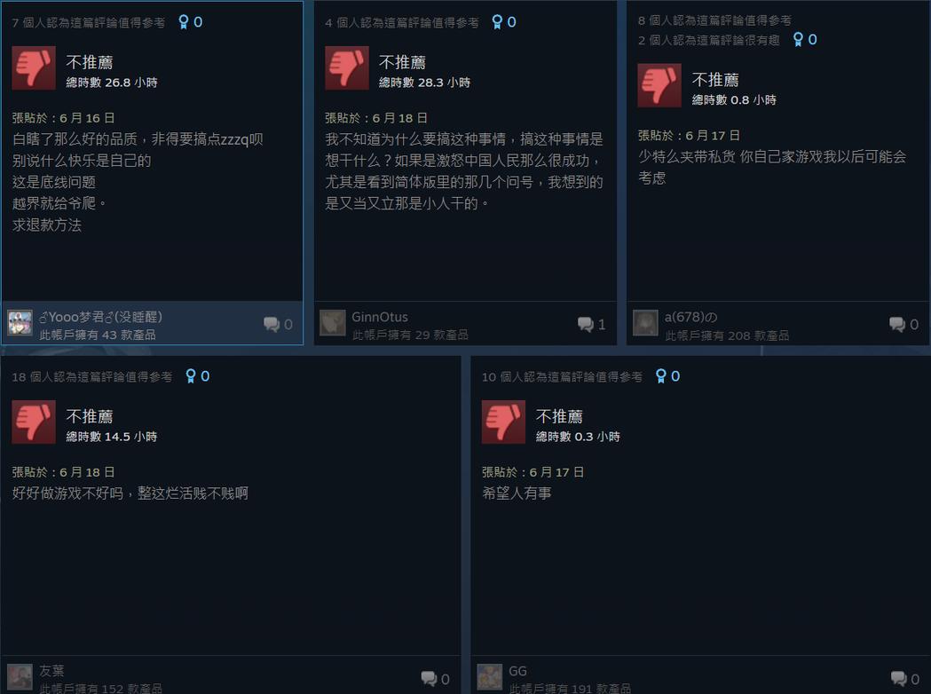 圖:《聖騎士之戰 -奮戰-》Steam 討論區