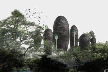 峇里島「天然修道院計畫」模擬圖。 圖/國立臺灣美術館提供