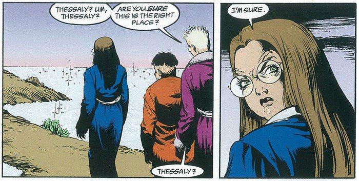 外表年輕的上古女巫西瑟麗(Thessaly)。 圖/DC Comics