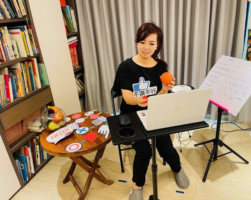 遠端課程讓樂齡學員在家也能學習不中斷。圖/嘉義縣樂齡學習示範中心提供