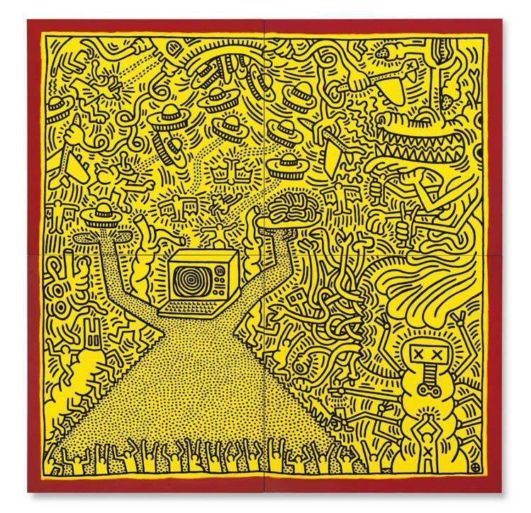 佳士得「20th/21st世紀倫敦-巴黎連線晚拍」上,Keith Haring「...