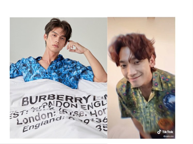 Bright和Rain預告BURBERRY 2022春夏男裝大秀。圖/截自Tik...