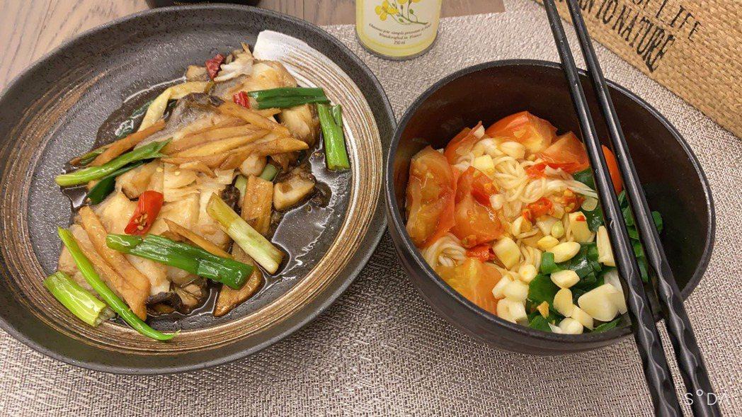 黃心娣三餐下廚煮一些食物原型少油少鹽。圖/周子娛樂提供