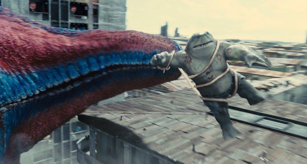 鯊魚王是「自殺突擊隊:集結」的重要要角。圖/華納兄弟提供