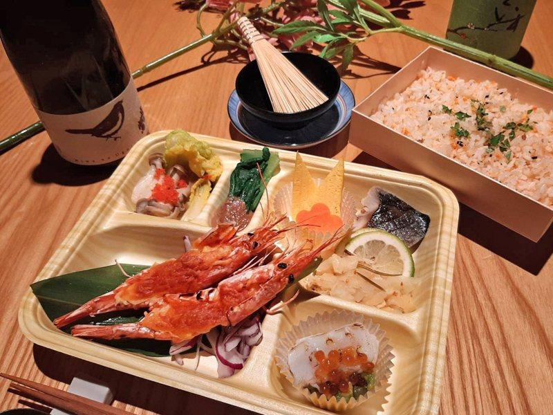 起司焗烤大紅蝦餐盒,原價390元,特價332元。圖/日本橋海鮮丼辻半提供