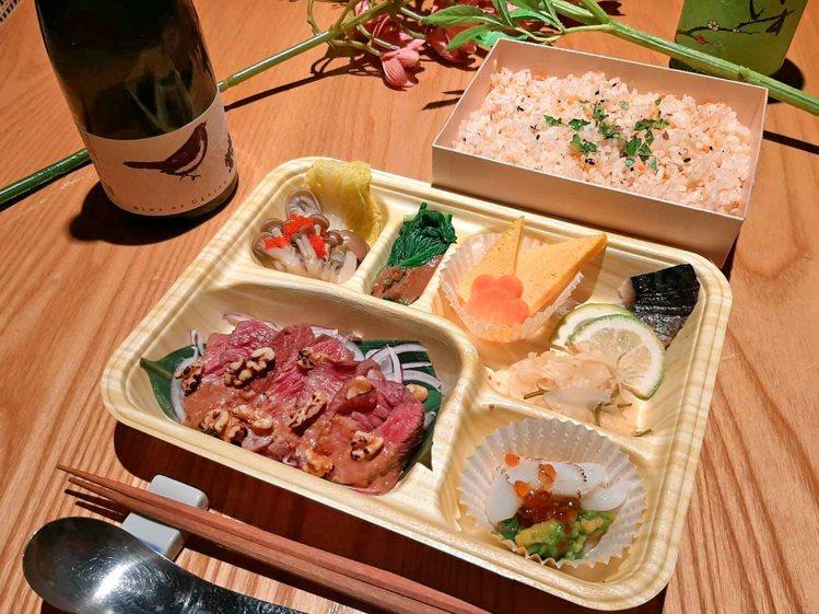 胡麻堅果和牛排餐盒,原價590元,優惠價502元。圖/日本橋海鮮丼辻半提供