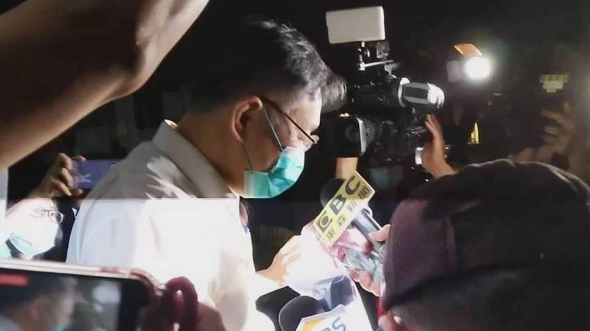 台北市長柯文哲面對媒體詢問。圖/記者謝承恩