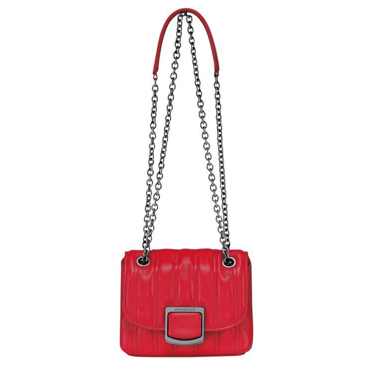 LONGCHAMP Brioche磚紅色斜背袋XS尺寸,23,700元。圖/LO...