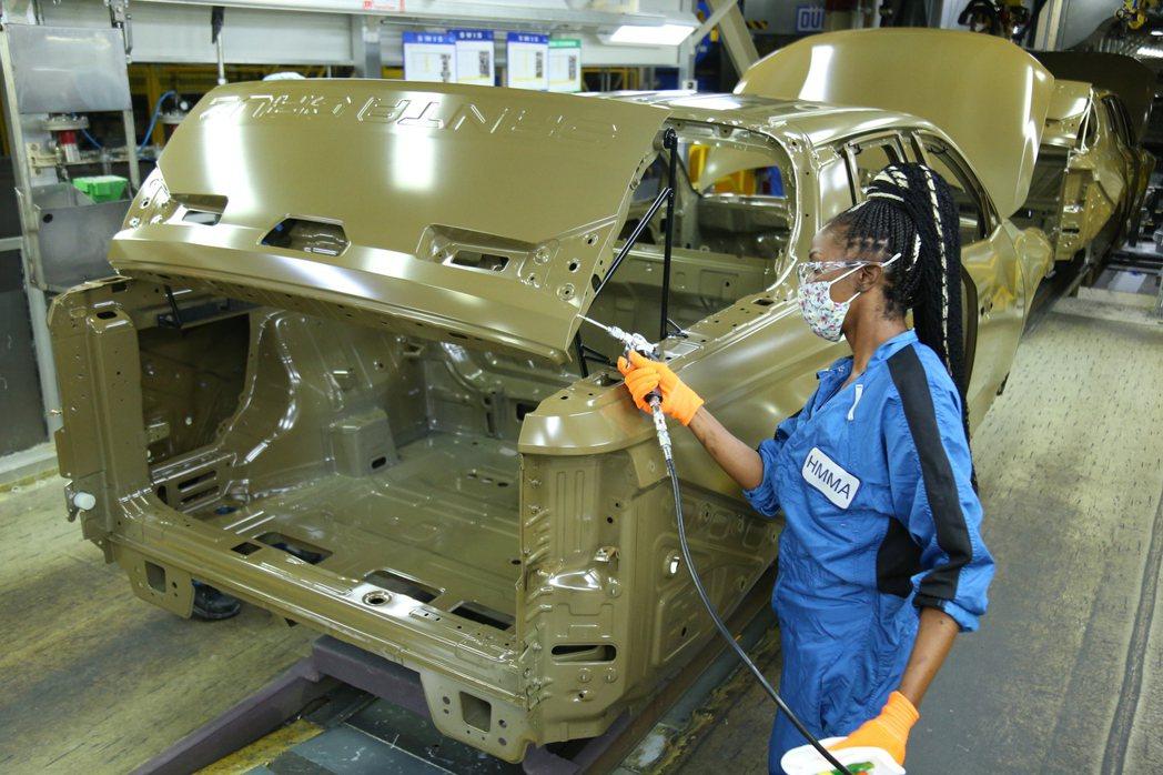 全新Hyundai Santa Cruz是第五款在美國生產的現代汽車。 摘自Hy...